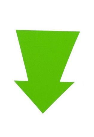 Kartonnen pijl 150x100mm. fl. groen