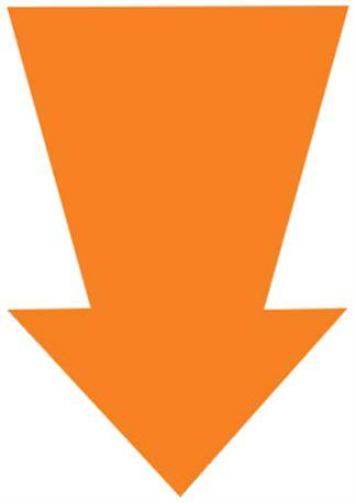 Kartonnen pijl 220x150mm. fl. oranje