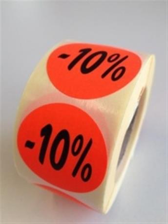 Fluor sticker - 10%