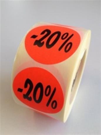 Fluor sticker - 20%