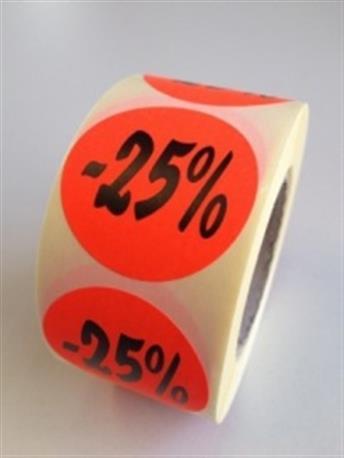 Fluor sticker - 25%