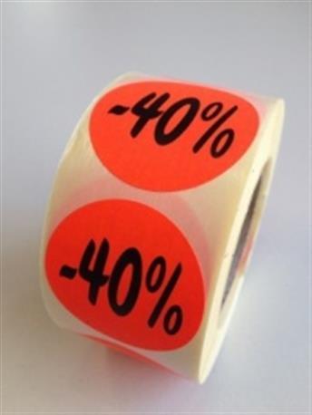 Fluor sticker - 40%