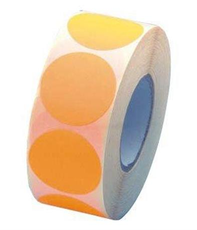 Fluorsticker 25mm. Fluor Oranje