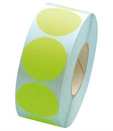 Fluorsticker 25mm. Fluor Groen
